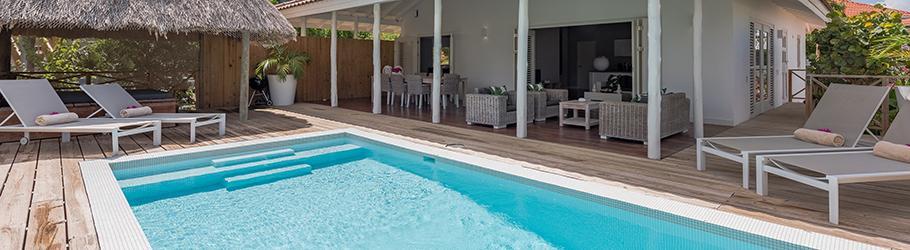 Villa sunny island tropische villa met prive zwembad in de luxe buurt vista royal in curacao - Zwembad met kookeiland ...